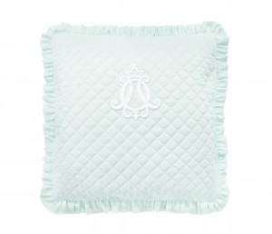 Quilted mint pillow