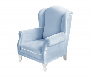 Mini armchair - blue velvet