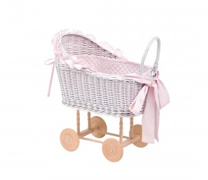 Wicker trolley pink