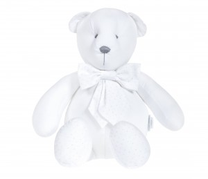 Decorative teddy bear - Silver Bright