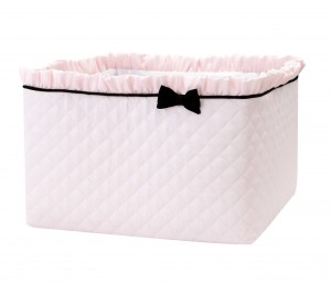 Quilted pink care basket - Petit Paris