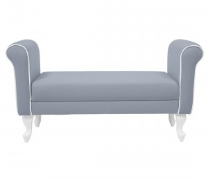 Upholstered bench - dark grey
