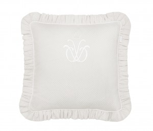 Pillow with emblem- Frenchy Beige