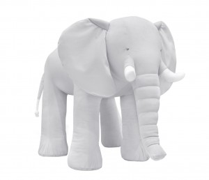 Decorative elephant- velvet grey