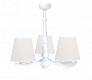 Three - armed chandelier - Cheverny Beige