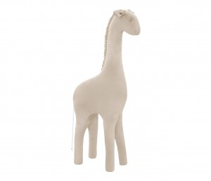 Decorative giraffe- beige velvet