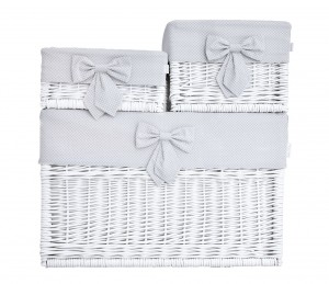 White wicker basket – medium – Frenchy Grey