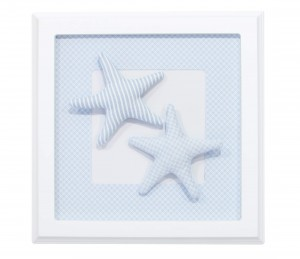 Blue picture with starfishes