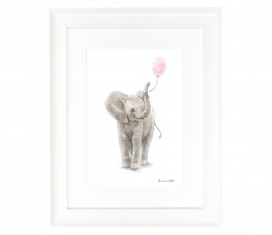 Picture with elephant with balloons