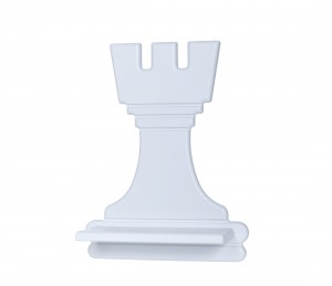 Chess Rook – grey shelf