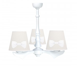 Three - armed chandelier with bows - Cheverny Beige