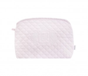 Quilted pink beauty case