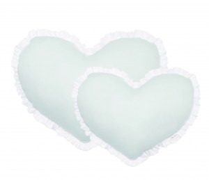Small heart pillow - mint