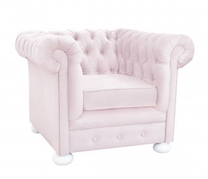 Mini quilted pink armchair