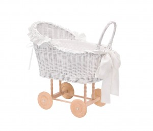 Wicker trolley Silver Bright