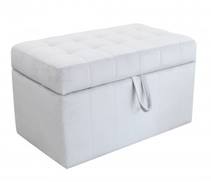 Quilted trunk- grey velvet