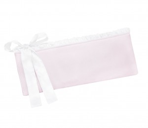 Cot bed bumper Misty Jersey light pink