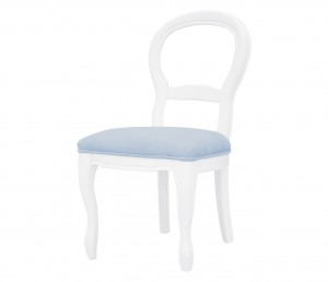 French velvet blue chair