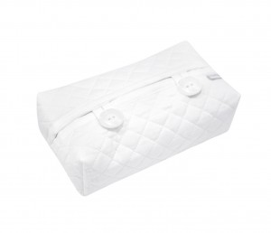 Quilted white wipes cover