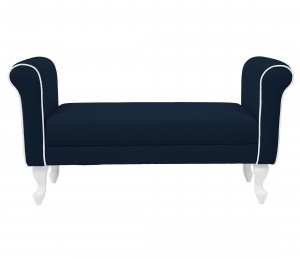 Upholstered bench - navy blue