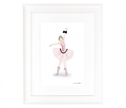Picture with ballerina II in a skirt Puff Tutu