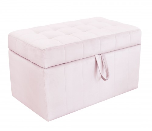 Quilted trunk- pink velvet