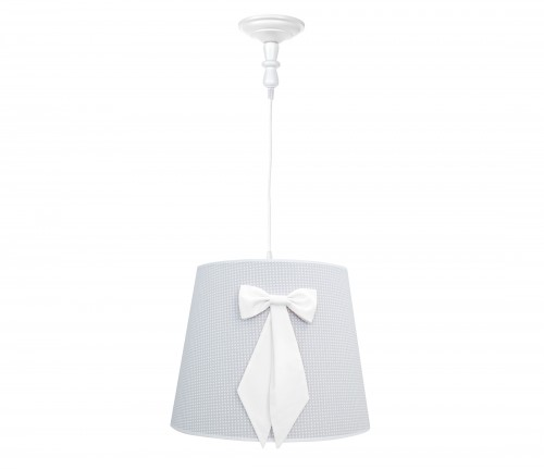 Round chandelier - Cheverny Grey with bow