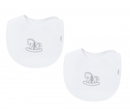 Set of bibs - Silver Bright
