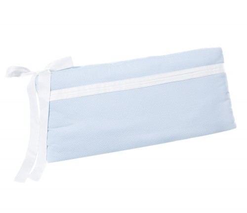 Cot bed bumper - Frenchy Blue with creases