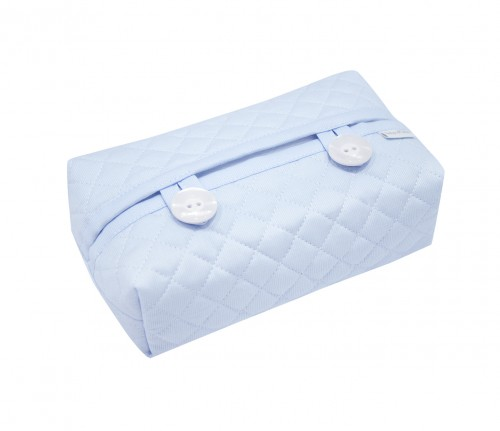Quilted blue wipes cover