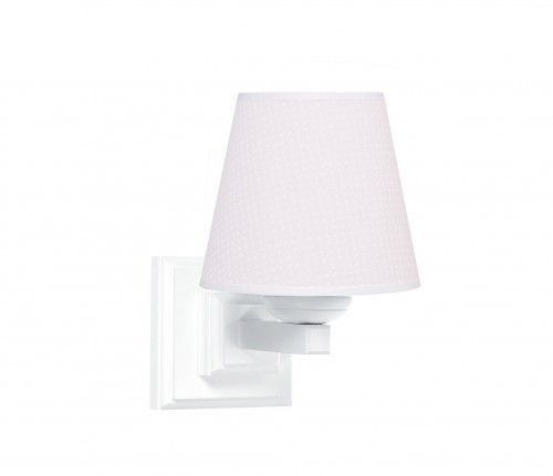 Square sconce - Cheverny Pink