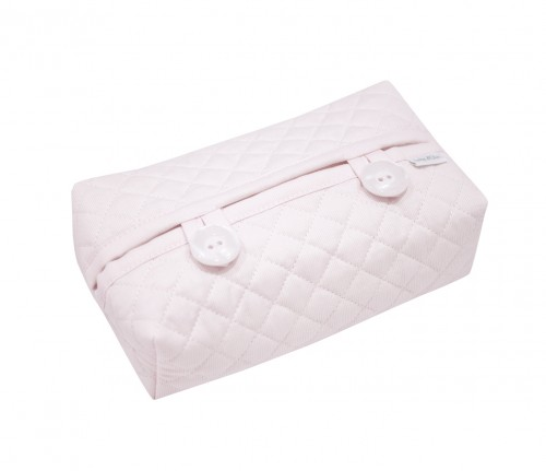 Quilted pink wipes cover