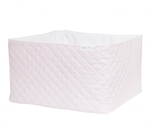 Quilted pink care basket
