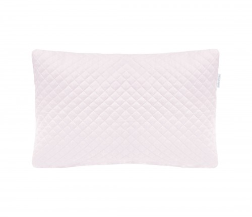 Quilted pink pillow