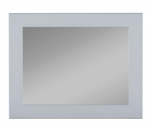 Square mirror with grey frame