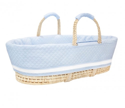 Moses basket blue