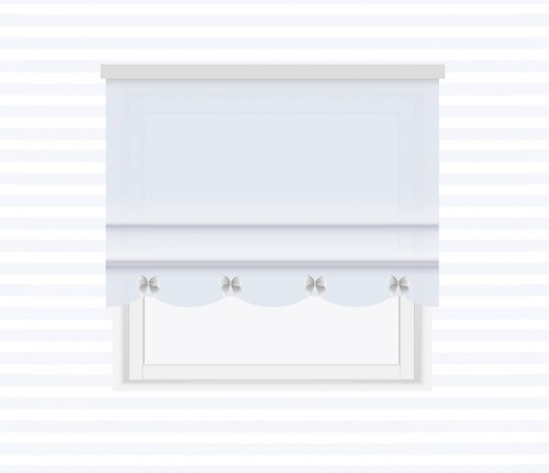 Roman blind with waves and bows - for individual order
