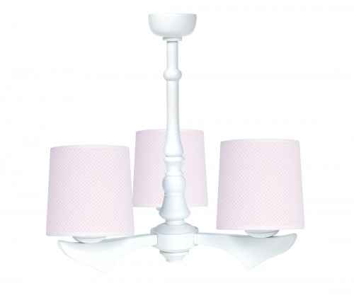 Three - armed chandelier - Frenchy Pink