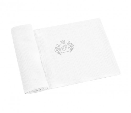Swaddling blankets with silver emblem