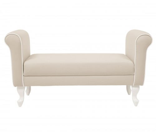 Upholstered bench - beige