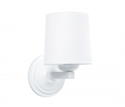 Round sconce - Silver Bright