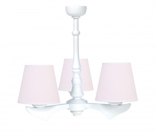 Three - armed chandelier - Cheverny Pink