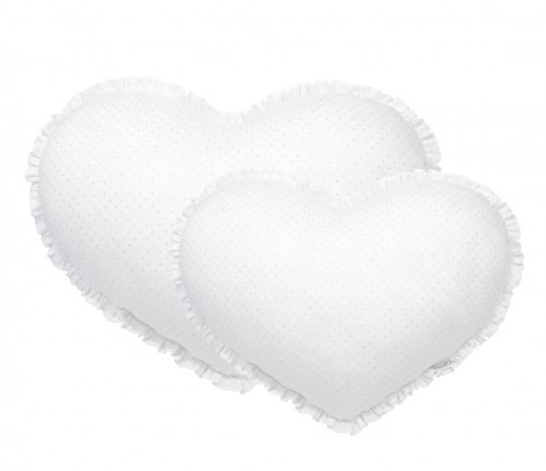 Big heart pillow Silver Bright