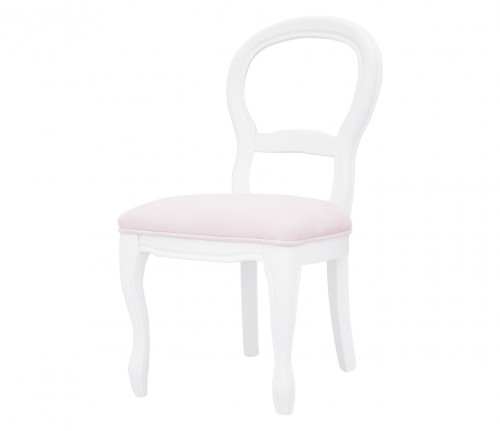 French velvet pink chair