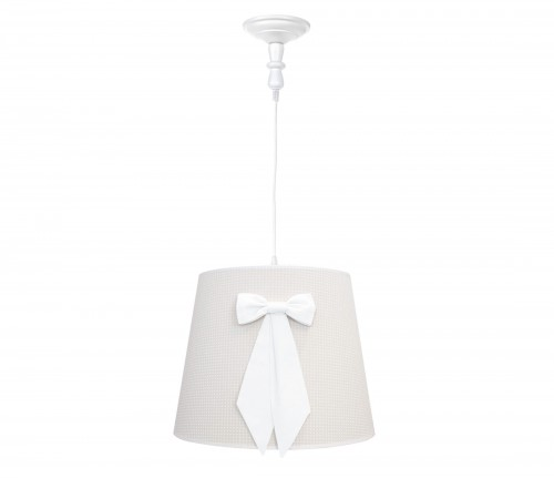 Round chandelier - Cheverny Beige with bow
